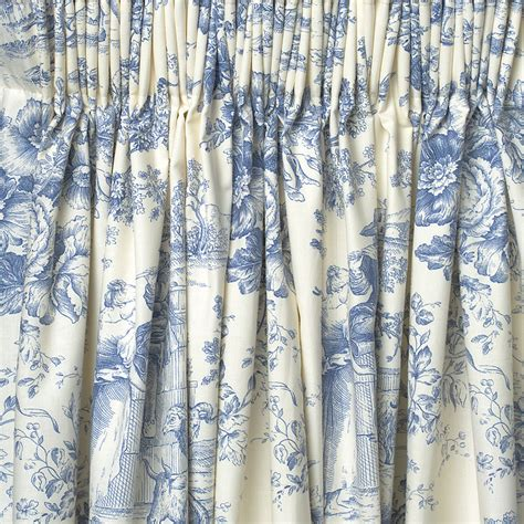 white and blue drapes shower curtains toile interior decorating