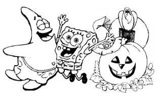 halloween coloring pages spongebob print and download area