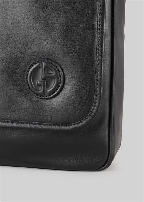 Bag Selempang Giorgio Armani 9661 leather cross messenger bag for giorgio armani
