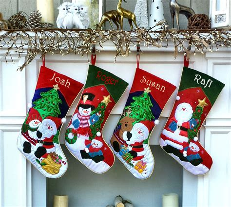 embroidery patterns for christmas stocking embroidered christmas stocking santa applique