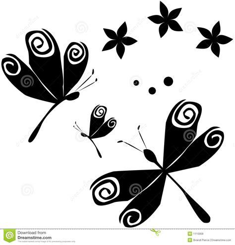 imagenes mariposas y libelulas movimiento dragonflies flowers b w stock vector image 1115959
