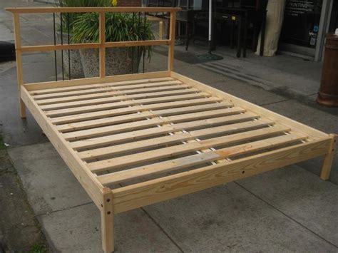 Build A Cheap Bed Frame How To Build Platform Bed Plans The Home Redesign