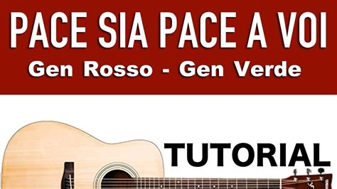 testo pace sia pace a voi pace sia pace a voi rosso verde tutorial