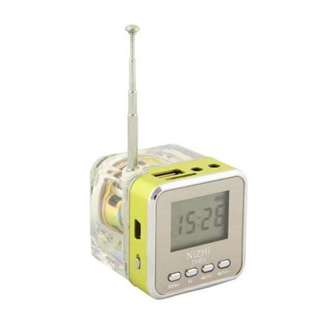 nizhi tt 029 lcd portable fm radio clock alarm usb tf mp3 player mini speaker ebay