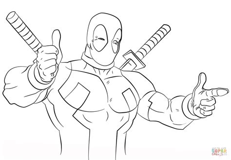 Coloring Page Deadpool by Deadpool Coloring Page Free Printable Coloring Pages