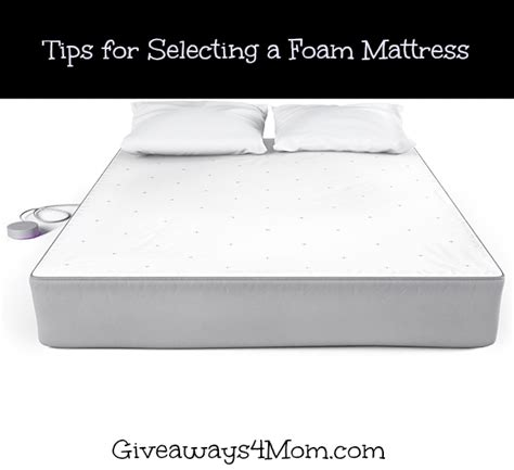 Breaking In A Mattress by Tips For Selecting A Foam Mattress