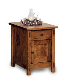 Entryway Cabinets Furniture Amish Centennial Enclosed End Table With Drawer And Door