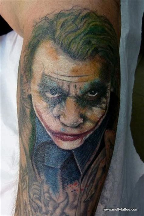 joker tattoo portrait mully tattoo tattoos realistic joker tattoo