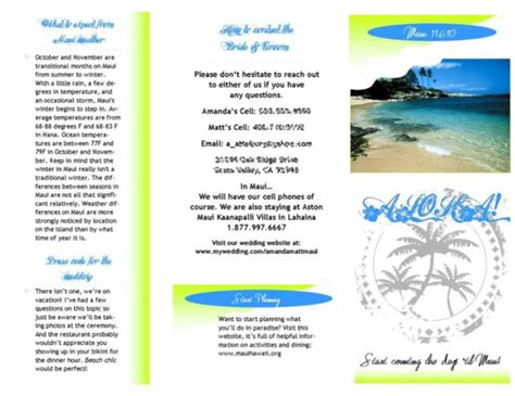 Destination Wedding Brochure For Guests by 13 Travel Destination Brochure Template Images Travel