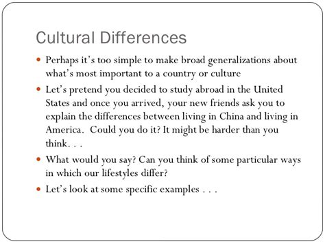 cultural themes exles cultural differences speech