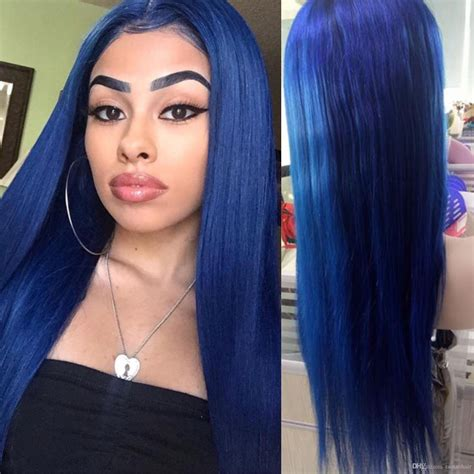 colored wigs blue colored lace wigs human hair glueless wig blue