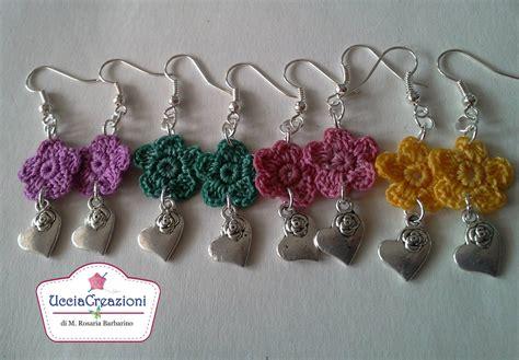 orecchini uncinetto fiore tutorial 4 orecchini fiore alluncinetto semplici how