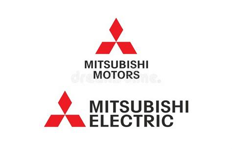 mitsubishi electric logo vector mitsubishi logo editorial image illustration of concept