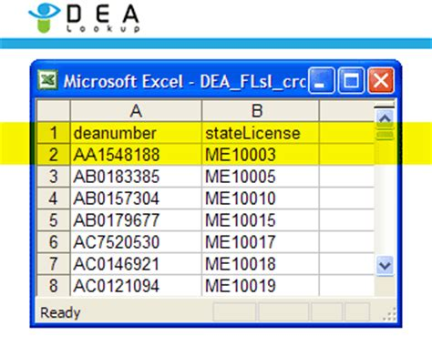 Dea Lookup Dea Lookup Dea To State License Cross Reference