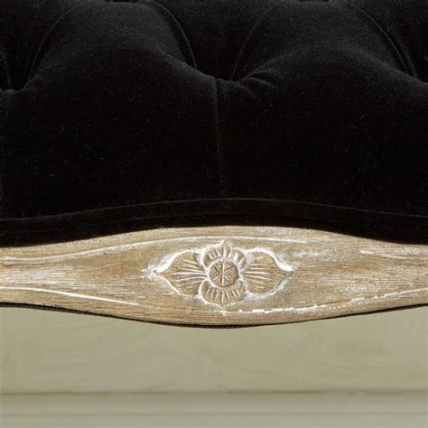 Francis Black Fabric Ottoman Bench Great Deal Furniture Black Fabric Ottoman