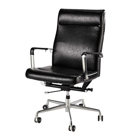 black office chair on castors maisons du monde