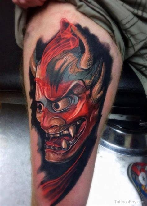red hannya mask tattoo designs tattoos designs pictures