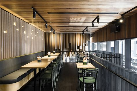 low cost restaurant interior design techn 233 makes creative use of cardboard tubes at grill d s