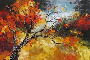 Home Decor Blogs In Canada amazing landscapes autumn paintings art by lena