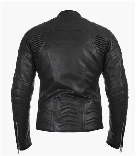 Handmade Leather Motorcycle Jackets - handmade s biker leather jacket black motorcycle