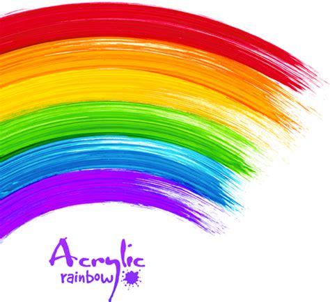 painting rainbow beautiful rainbow paint design vector 01 millions