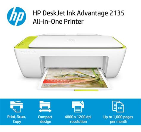 Printer Merk Hp 2135 hp deskjet ink advantage 2135 all in one printer buy hp