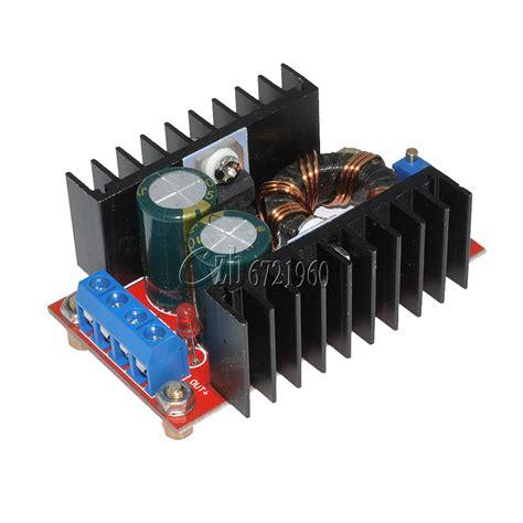 Dc Boost Converter Step Up 150w 6a Penaik Tegangan Volt Dc 150w dc dc boost converter 10 32v to 12 35v 6a step up power supply module ebay