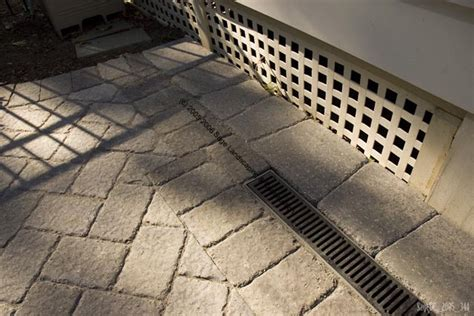 Paver Patio Drainage Foundation Drainage Systems
