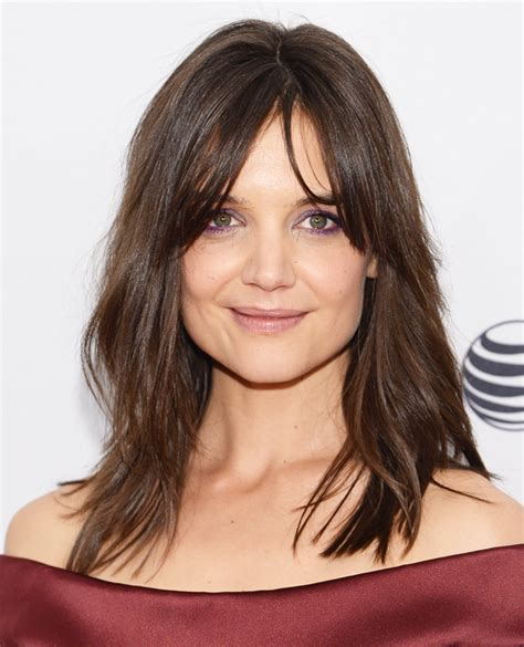 bangs or no bangs 2014 katie holmes the best celebrity bangs instyle com