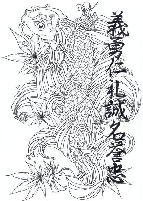 koi tattoo stencils oriental stencils designs free download koi japanese