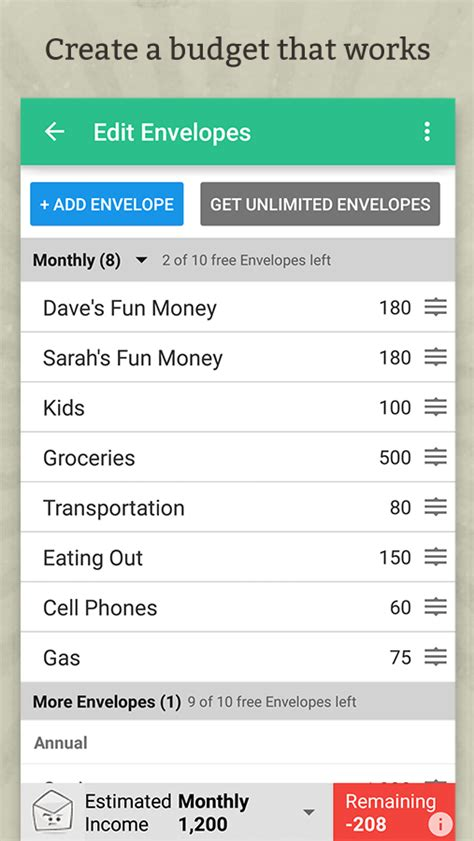 goodbudget budget finance android apps on play