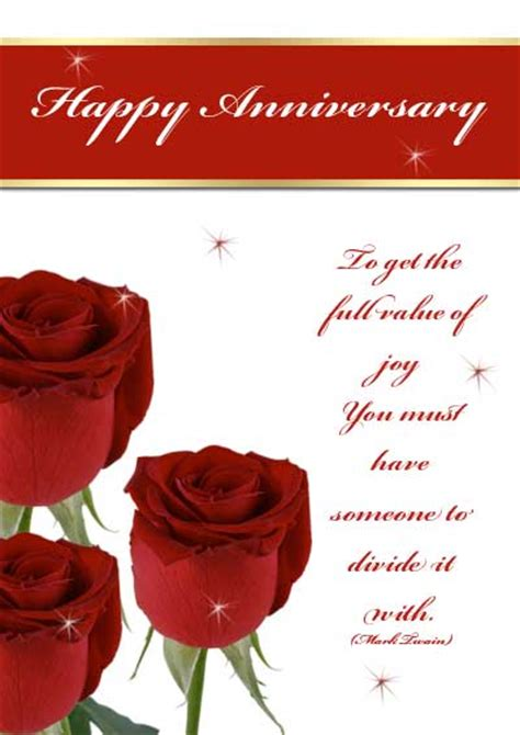 anniversary card free printable anniversary cards