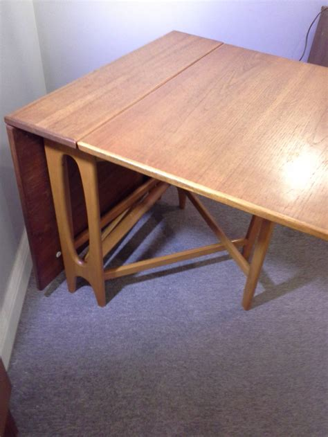 Mid Century Style Dining Table Teak Mid Century Modern Bruno Mathsson Style Drop Leaf Dining Table At 1stdibs