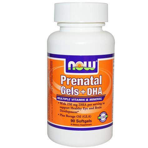 Vitamin Prenatal Now Foods Prenatal Gels Dha Vitamin Mineral
