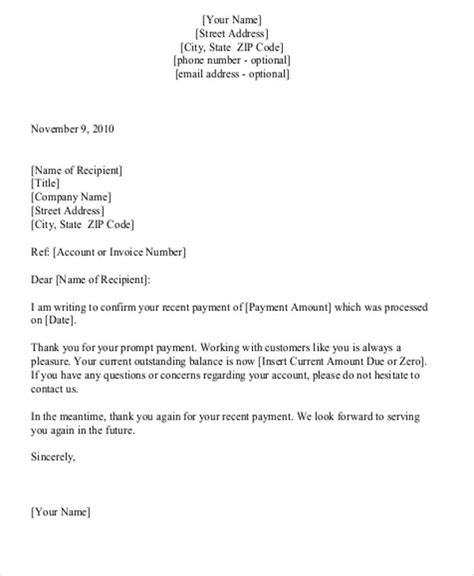 thank you letter for received 6 sle payment received receipt letters pdf doc