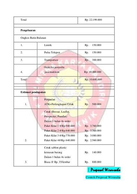 format penulisan proposal wirausaha contoh proposal wirausaha loak info