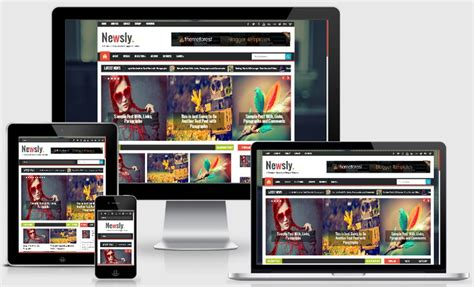 Newsly Blogger Template Blogger Templates 2018 Responsive Gallery Template