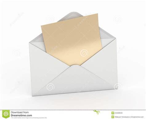 lettere posta posta busta e lettera vuota 3d illustrazione di stock