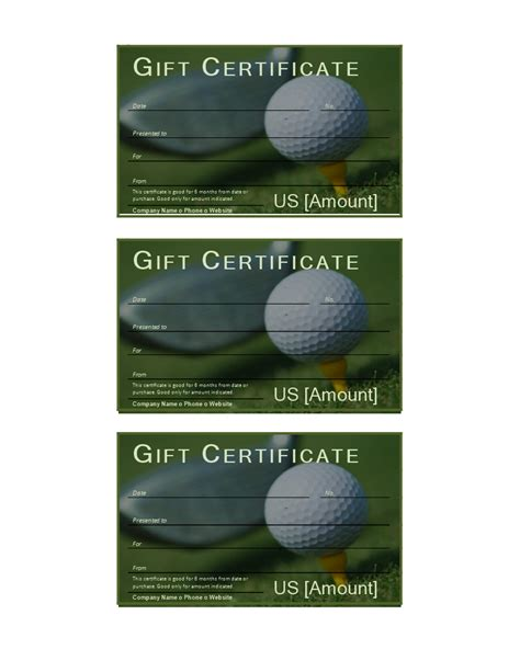 Golf Gift Certificate Download This Free Printable Golf Gift Certificate If You Often Rush Golf Gift Certificate Template