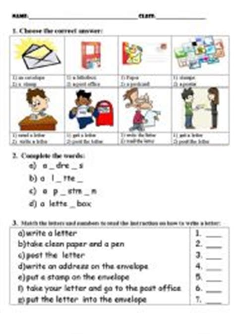 Post Office Test by Teaching Worksheets The Post Office