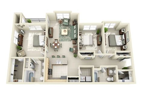 3 bedroom design layout 3 bedroom apartment house plans smiuchin
