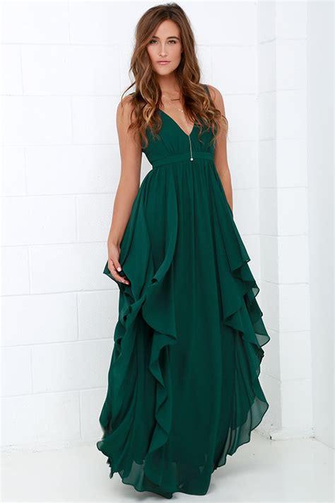 green dress beautiful green maxi dress prom dress bridesmaid