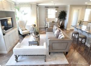 Townhouse Living Room Dining Room Combo Neutral Living Room Floors Nailhead Tv Cabinet