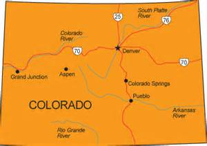 simple map of colorado co map colorado state map