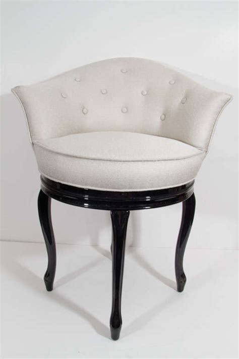 Swivel Vanity Chair by Glamorous 1940s Swivel Seat Vanity Stool At 1stdibs