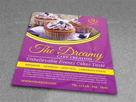 Cake Flyer Template Vol 5 By Owpictures Graphicriver Cake Flyer Template