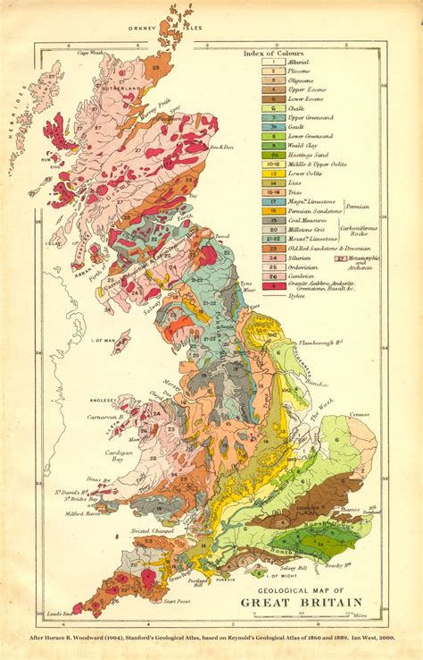 great britain map geology of great britain uk introduction and maps by