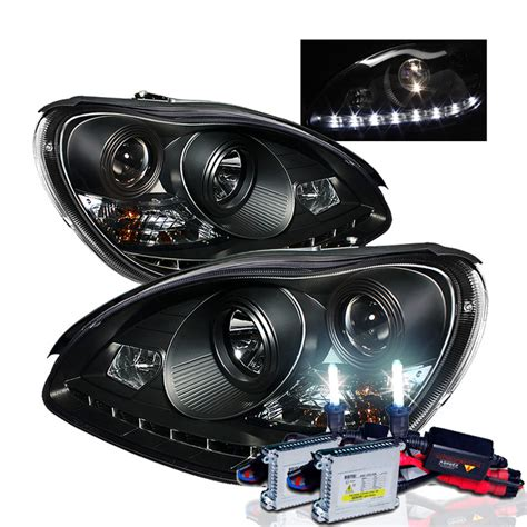 Projector Hid hid xenon 00 05 mercedes s class w220 led drl