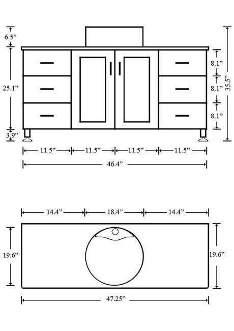 Bathroom Vanity Sizes What Is The Standard Height Of A Bathroom Vanity Paperblog
