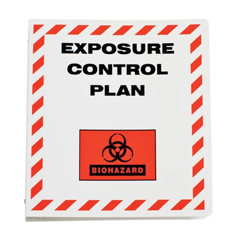 Storage Organization by Exposure Control Plan Binder Safety Maintenance